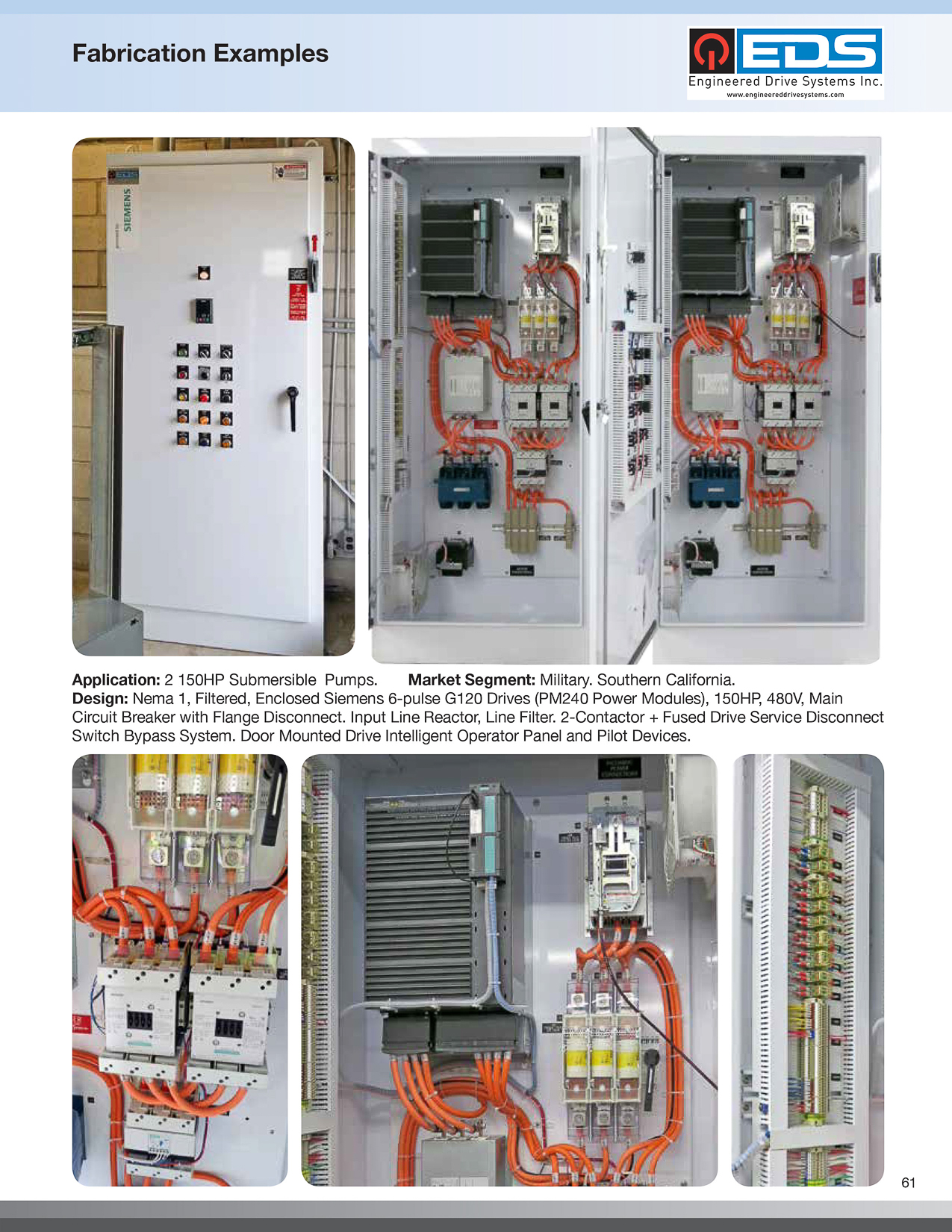 Engineered Drive Systems Eds Brochure Enclosed Circuit Breaker Enclosure